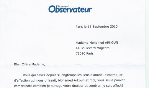 """Hommage """"Le nouvel observateur"""""""