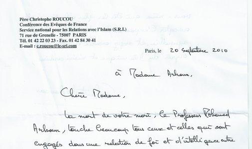 Hommage du Père Christophe ROUCOU